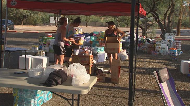Phoenix area Texans helping victims of Harvey in Houston ...
