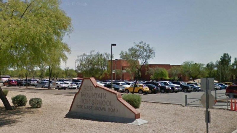 Gun found at red mountain high school two 14 year old for Red mountain motors mesa az