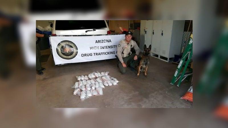 Meth seizure on I-40 marks drug-sniffing dog's first