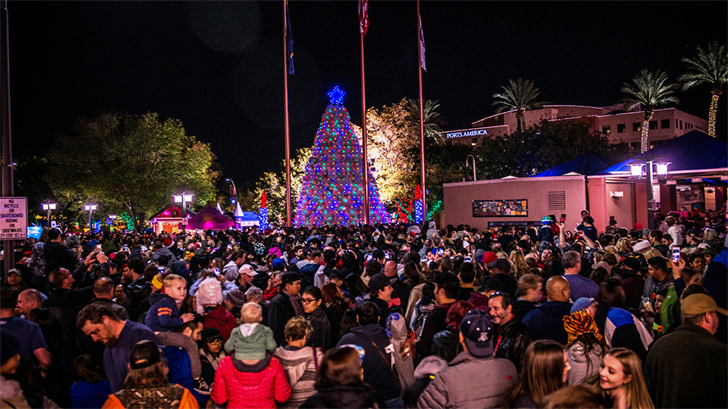 This is what the lighting of the Tumbleweed Tree looked like last year. (Source & Chandleru0027s Tumbleweed Tree lights up the night - Arizonau0027s Family