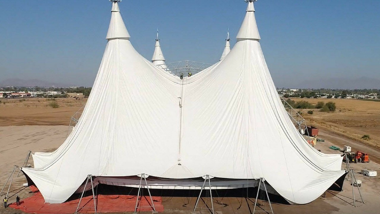 Huge white tent pops up in Scottsdale for Cavalia horse show - Arizonau0027s Family : big white tent - memphite.com