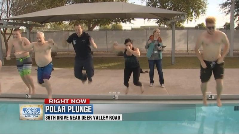 Peoria polar plunge promotes water safety arizona 39 s family for T shirt printing peoria az