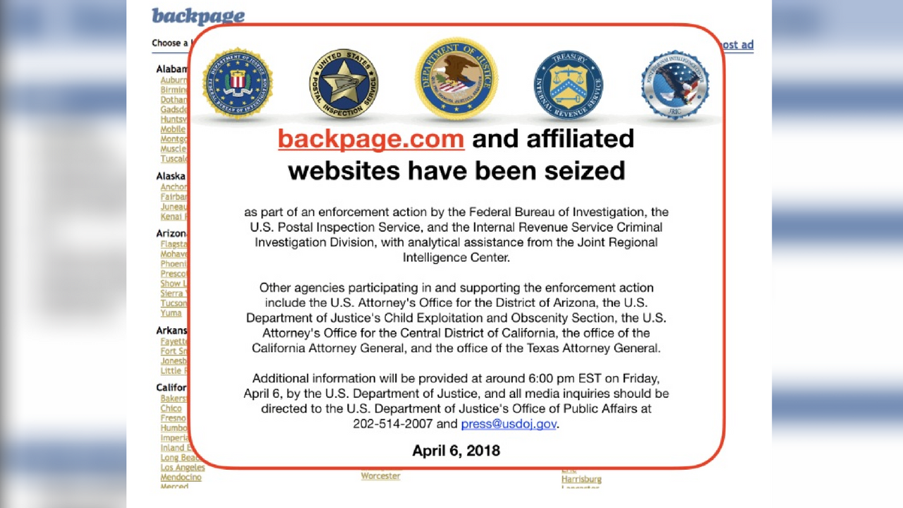 backpage shut downfbi - arizona's family
