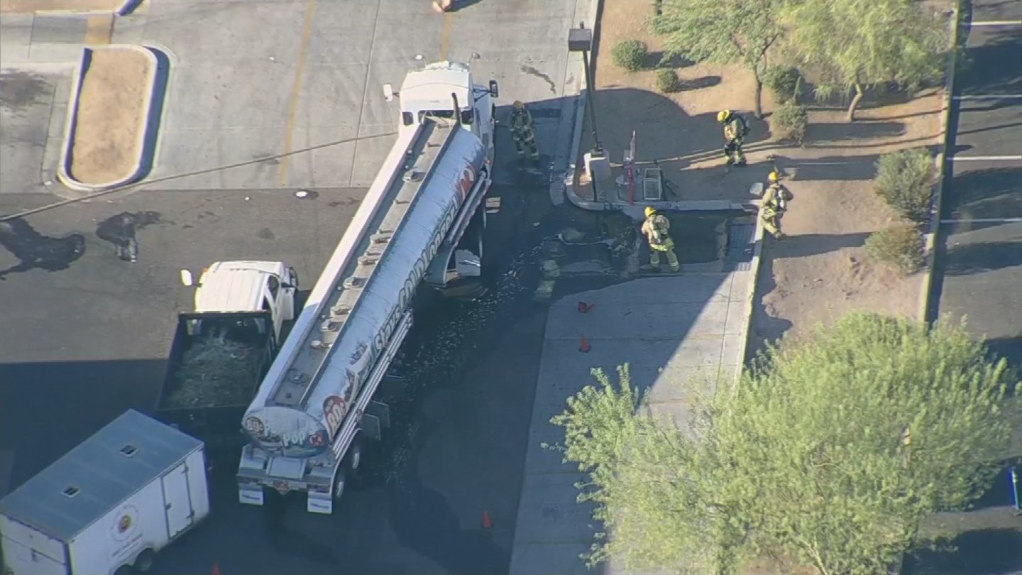 Cleanup Completed Following Tanker Truck Crash Fuel Spill Arizona