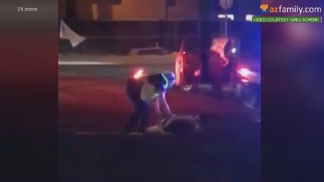 Video showing cop dragging woman on Tempe street sparks protest ...