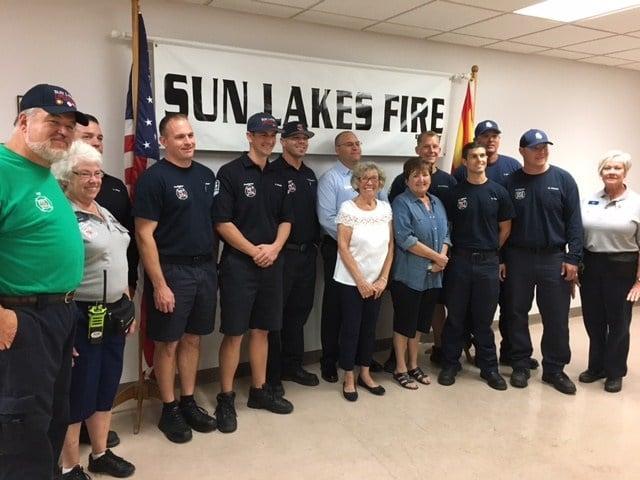 Sun Lakes firefighters honor women's association