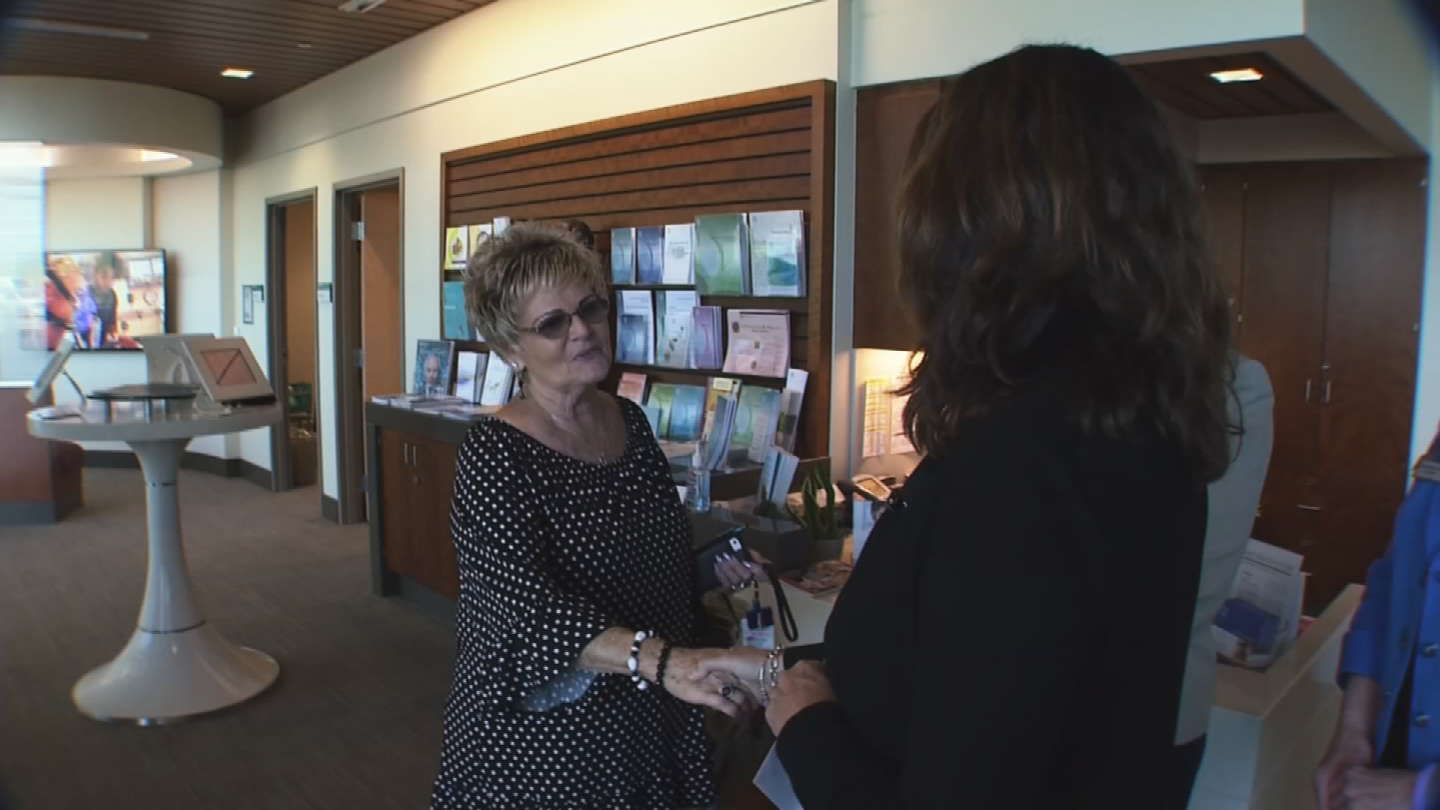 Cathy Mikkelson decided to Pay It Forward to Lois Fowler because she made hats for cancer patients. (Source: 3TV/CBS 5)