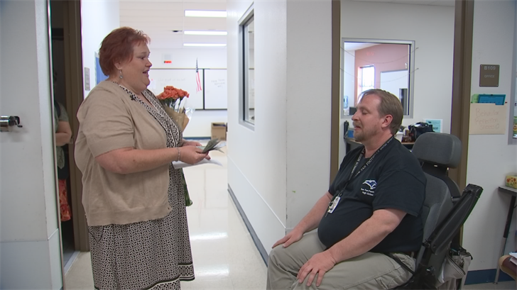 Scott Crandall has been great helping students with special needs so a mother of a student decided to Pay It Forward. (Source: 3TV/CBS 5)