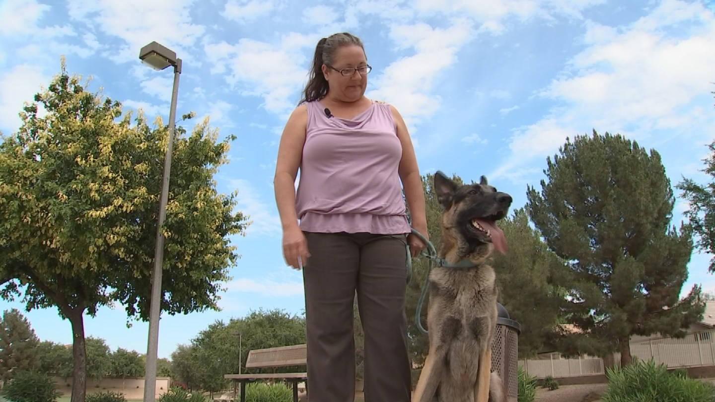 Debbie Hunsley loves dogs, especially German shepherds. (Source: 3TV/CBS 5)