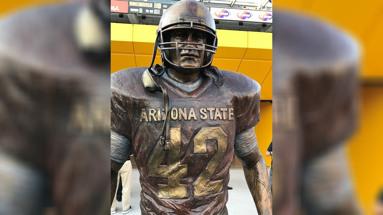 The Pat Tillman statue was unveiled on Wednesday. (Source: 3TV/CBS 5)