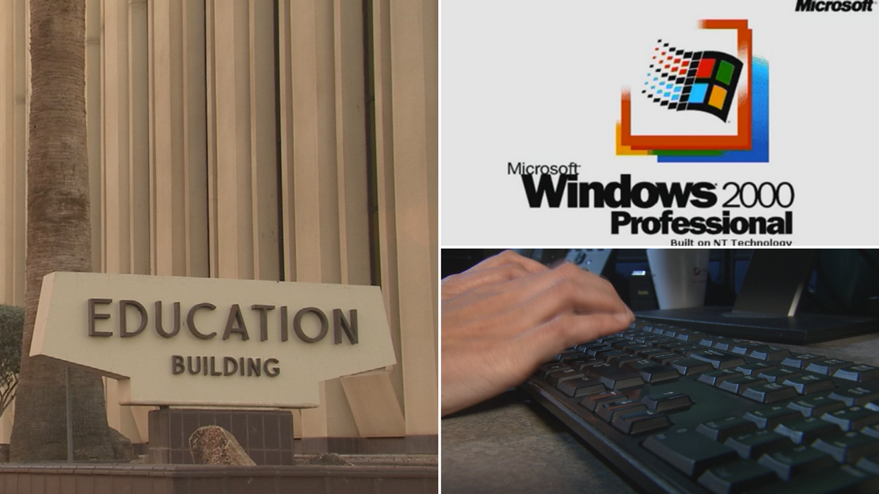 The school finance system runs on Windows 2000 software, which Microsoft stopped providing security updates for in 2010. (Source: 3TV/CBS 5)