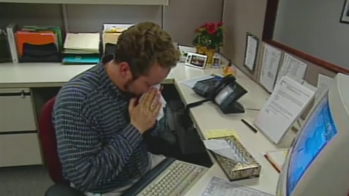 Office settings can become a breeding ground for disease if workers donot take everyday preventive measures to stop the spreadof germs. (Source: 3TV/CBS 5)