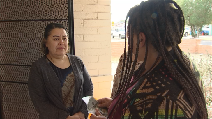 Friend and co-worker Jessica Doss decided to Pay It Forward to Maria Orozco to help with her cancer treatment. (Source: 3TV/CBS 5)