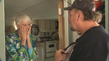 Dennis Jent met Donna Parks a few years ago and was immediately drawn to her generosity and goodwill,and immediately started volunteering and collecting shoes to help Parks out. Jent reached out to CBS 5 to Pay it Forward to Parks. (Source: 3TV/CBS 5)