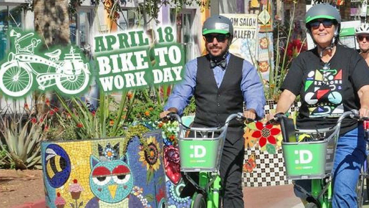 Wednesday is Phoenix's 13th-annual Bike to Work day, where members of the community are encouraged to trade in their cars for bikes to take part in a 3-mile bike ride to promote physical fitness and decrease pollution. (Source: City of Phoenix)