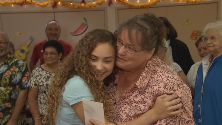 Senior citizens decided to Pay It Forward to Natasha Spencer, who helps out the homeless. (Source: CBS 5)