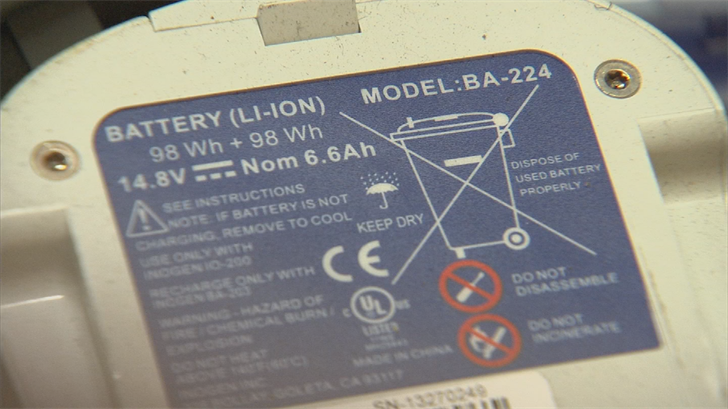 The common rechargeable batteries were linked to 65 percent of the waste facility fires in California last year. (Source: 3TV/CBS 5)