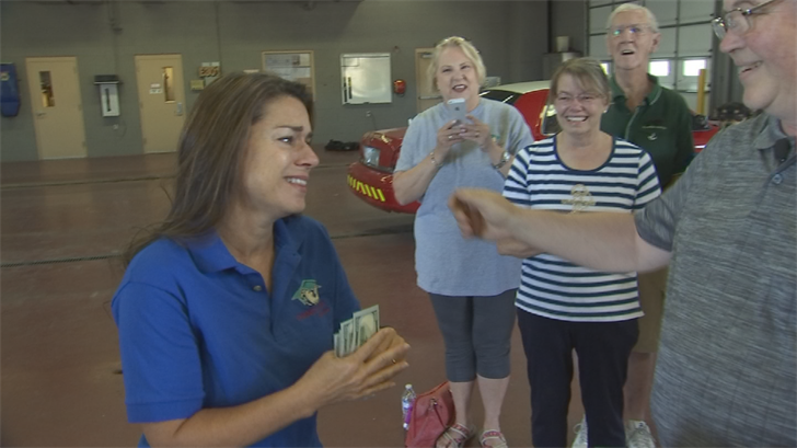 Fellow volunteer Robert Estep has seen how devoted Audra Colson is, helping place more than 50 pets since last year, so he reached out to CBS 5 to Pay it Forward to the woman keeping dogs and cats happy. (Source: 3TV/CBS 5)