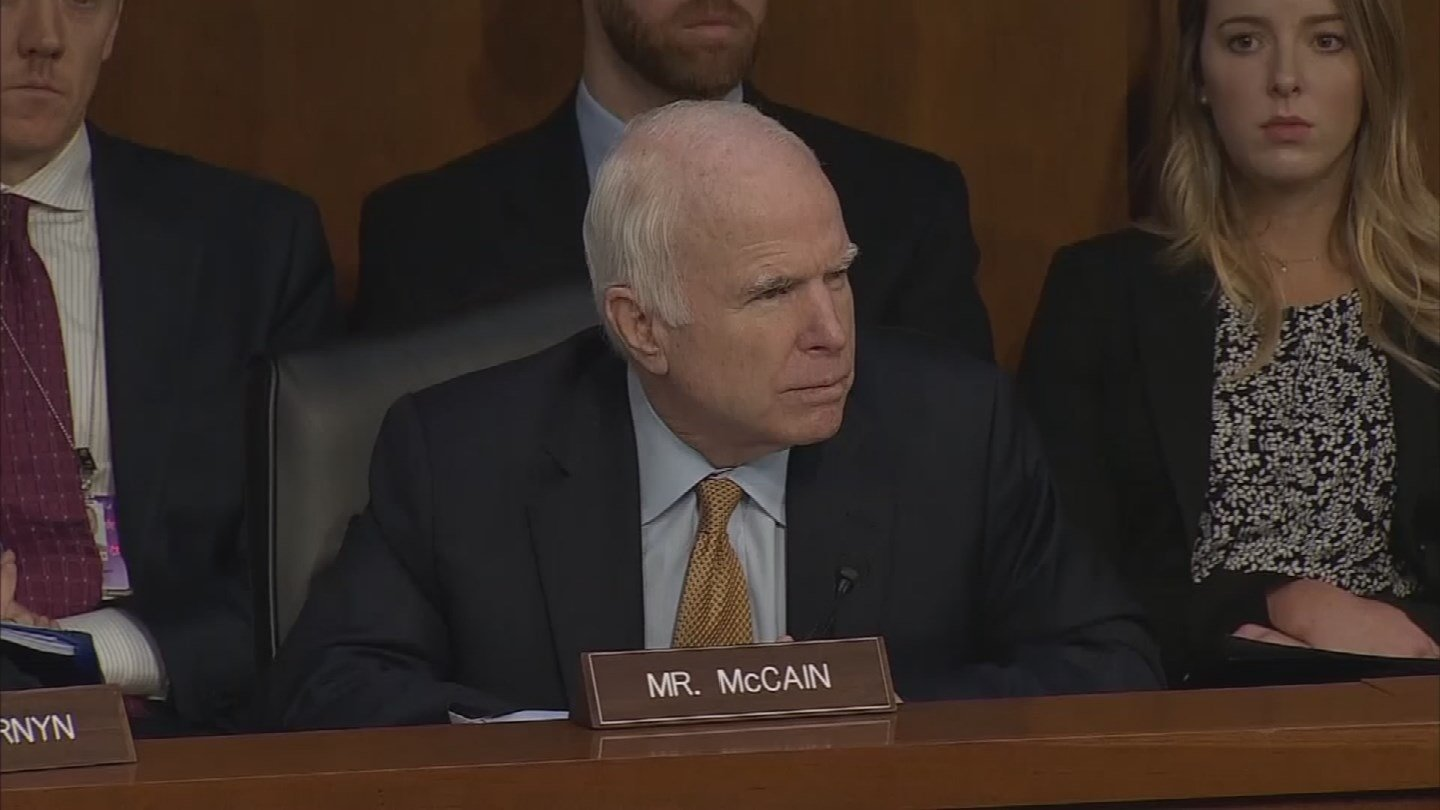 Sen. McCain shared the news of his brain cancer diagnosis on July 19, 2017. (Source: CNN)