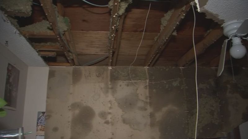The ceiling of this Mesa home sustained severe damage during a monsoon storm in early July 2018. (Source: 3TV/CBS5)