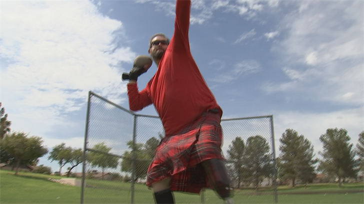 Joe White is carrying on the tradition of the Highland Games here in the Valley of the Sun. (Source: 3TV/CBS 5)