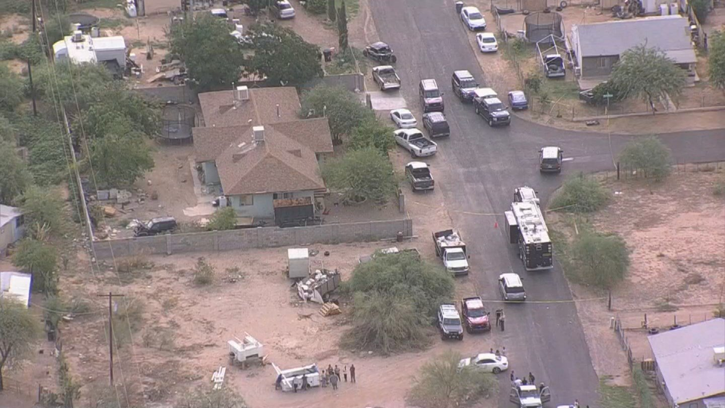 Three deceased men were found at the scene after MCSO deputies and DPS troopers responded to the residence.(Source: 3TV/CBS 5)