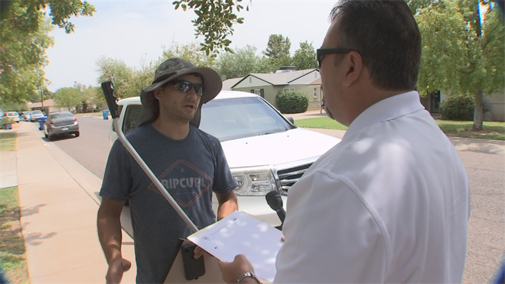 3 On Your Side caught up with Jason Segedy, a fake contractor who was hired to remodel a pool. (Source: 3TV)