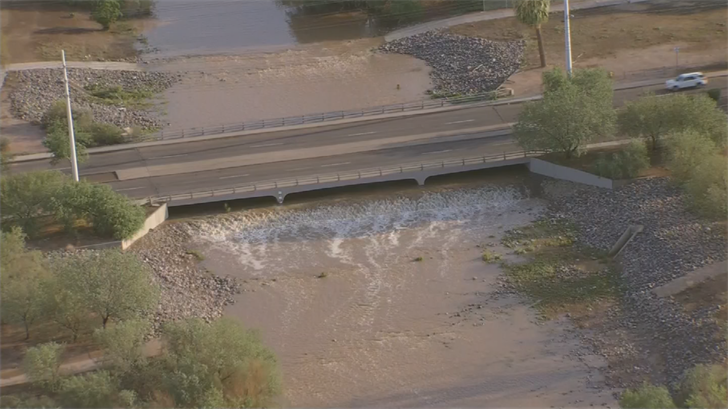 Indian Bend Wash can handle flows up to 30,000 cubic feet of water per second. (Source: 3TV/CBS 5)