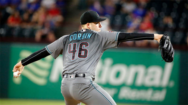 Arizona Diamondbacks starting pitcher Patrick Corbin (46) pitches against the Texas Rangers during the seventh inning of a baseball game Tuesday, Aug.14, 2018, in Arlington, Texas. (Source: AP Photo/Michael Ainsworth)