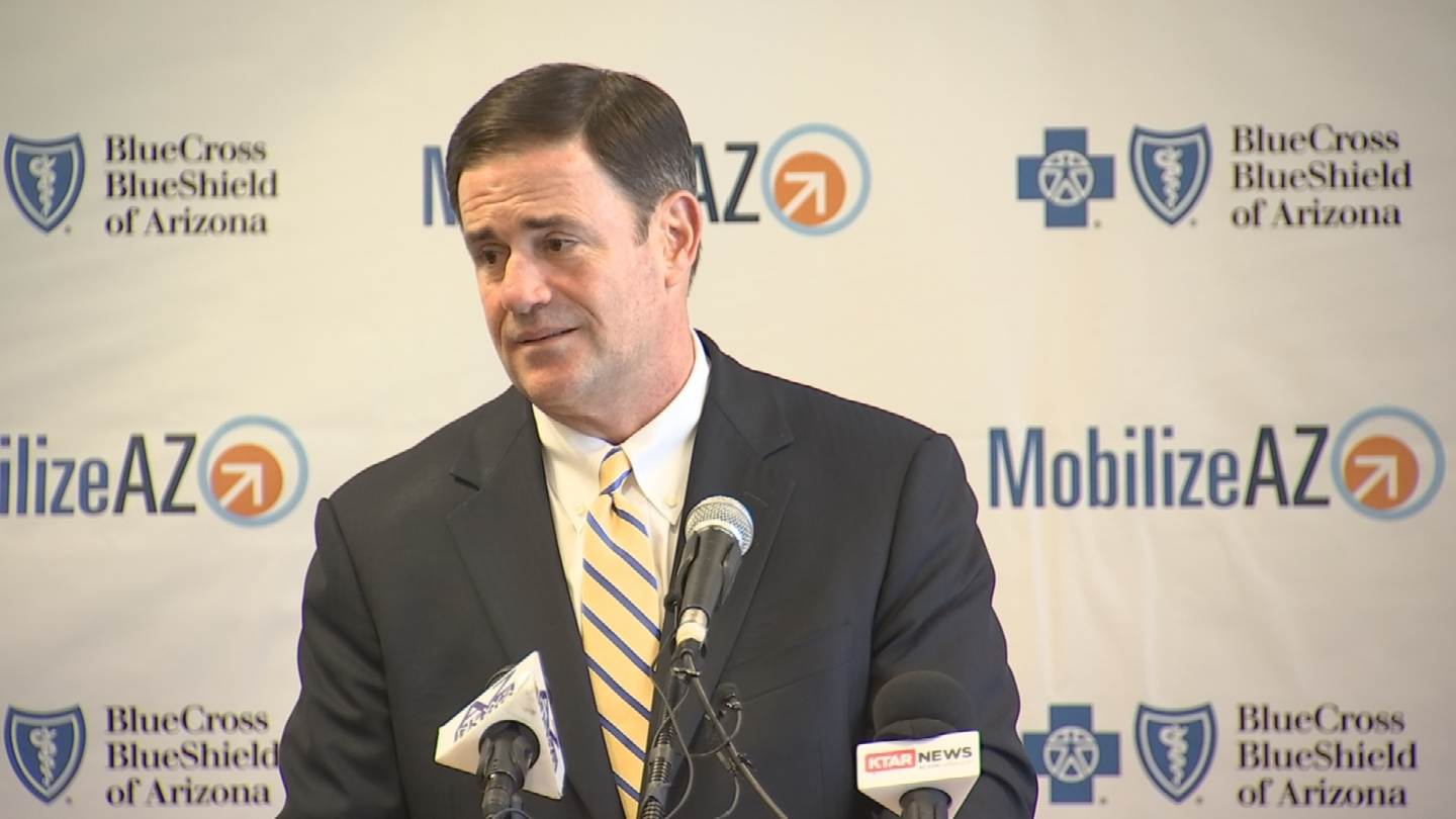 Officials from the insurance company announced the Mobilize AZ program on Tuesday alongside Gov. Doug Ducey. (Source: 3TV/CBS 5)
