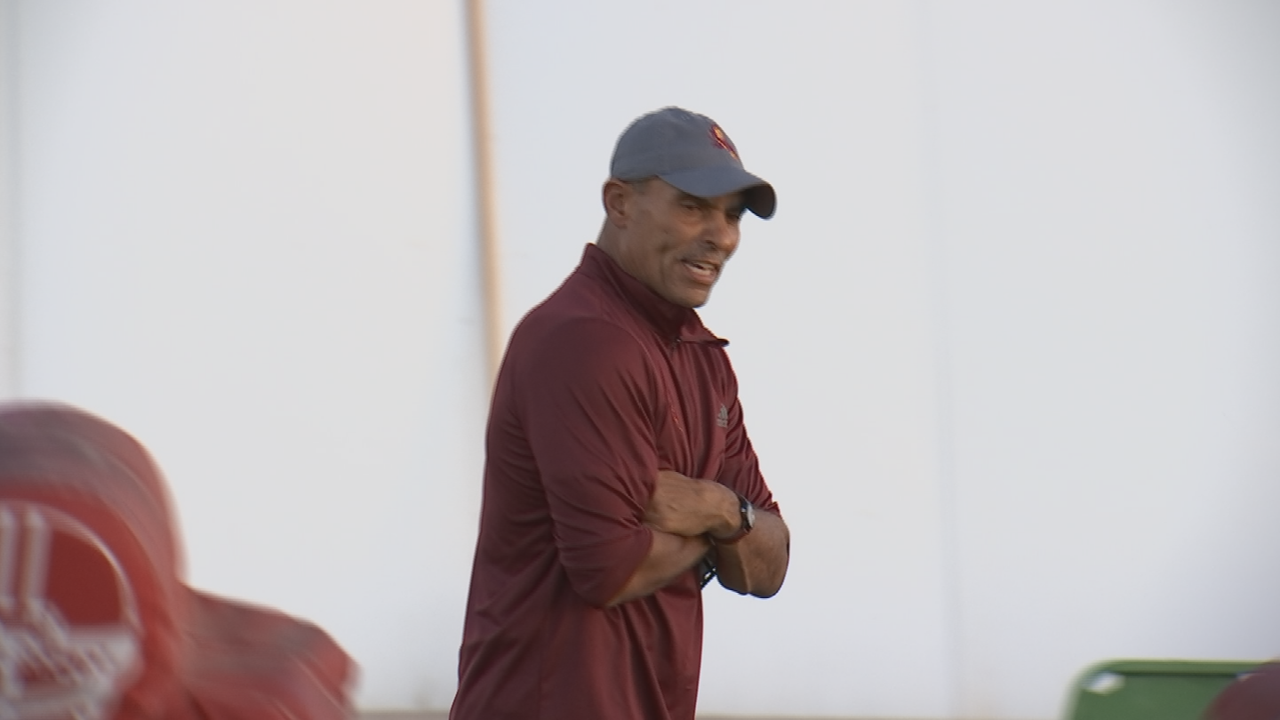 Edwards is 64 years old and is leading a college football program for the first time in his career. (Source: 3TV/CBS 5)