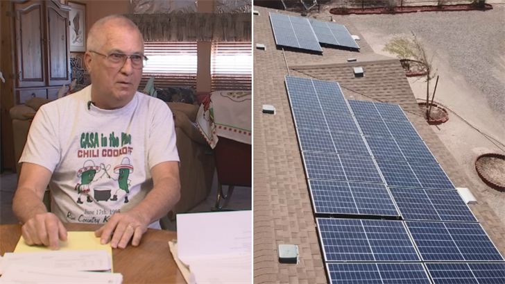 Dennis Huff said he thought he was getting a deal with solar but he ended up with higher electric bills. (Source: 3TV)