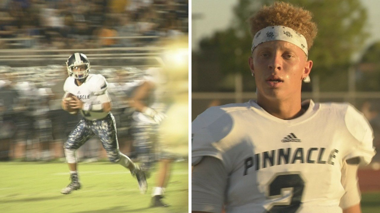 Pinnacle High School quaterback Spencer Rattler. (Source: 3TV/CBS 5 News)