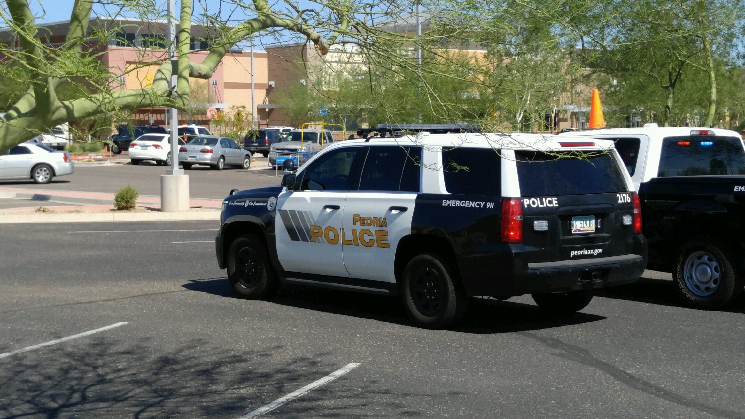 Police evacuated a Walmart on Sunday in Peoria. (Source: 3TV/CBS 5)