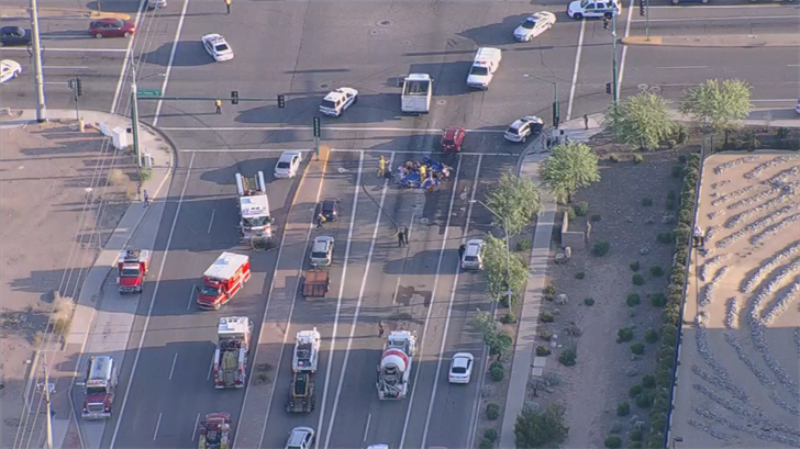 Two people have died after a plane went down in Phoenix. (Source: 3TV/CBS 5)