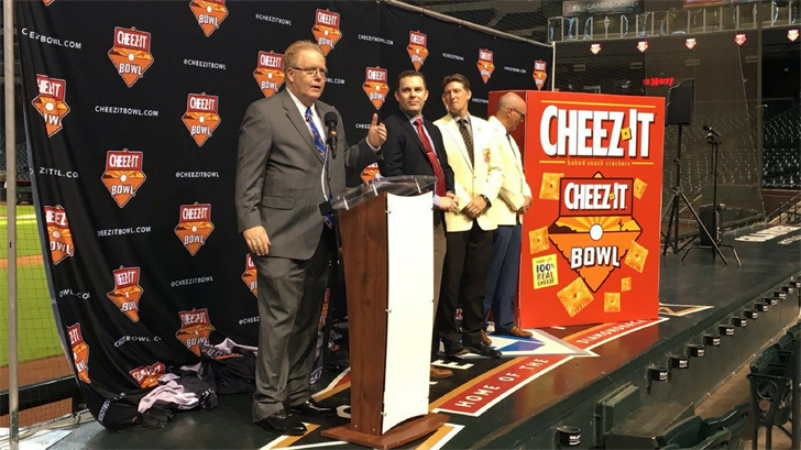 The Cactus Bowl officially changed its name to the Cheez-It Bowl on Monday. (Source: 3TV/CBS 5)