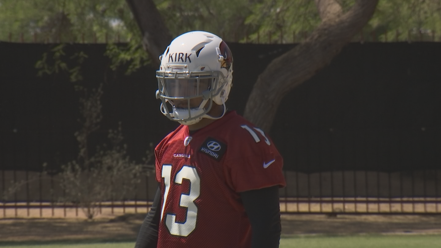 Christian Kirk is working hard to the earn the position of No. 2 wide receiver for the Arizona Cardinals. (Source: 3TV/CBS 5)