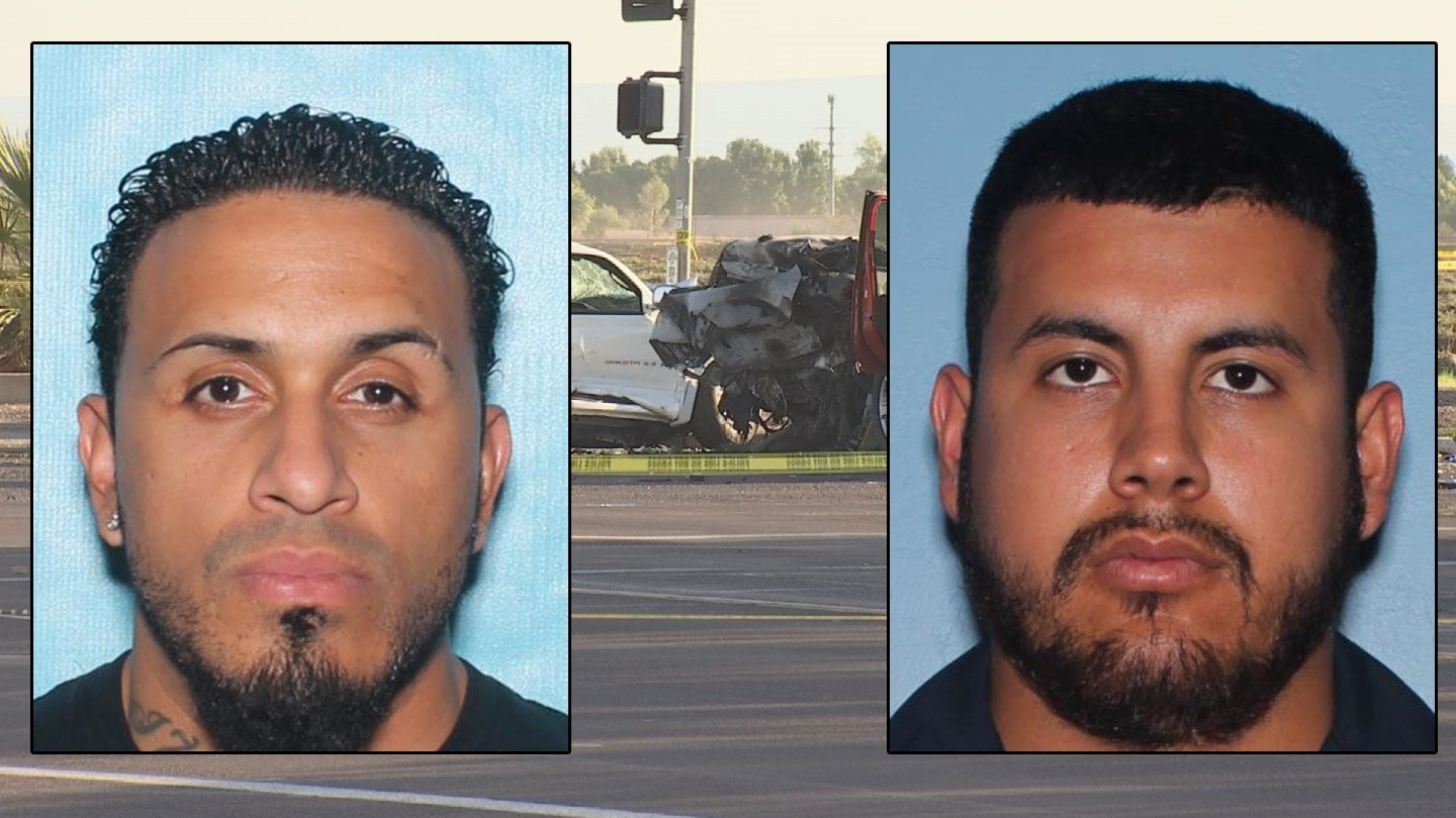 Joel Agostini, left, and Luis Espinoza, right, were both killed in a crash in Glendale. (Source: Glendale PD/3TV/CBS 5)