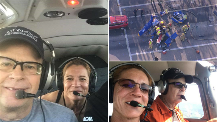 The pilot has been identified as 54-year-old, Theodore Rich and the passenger has been identified as 49-year-old Elaine Carpenter. (Source: 3TV/CBS 5/Facebook)