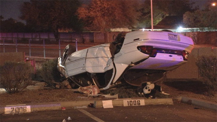 The crash happened near 48th Street and Elliot Road. (Source: 3TV/CBS 5)