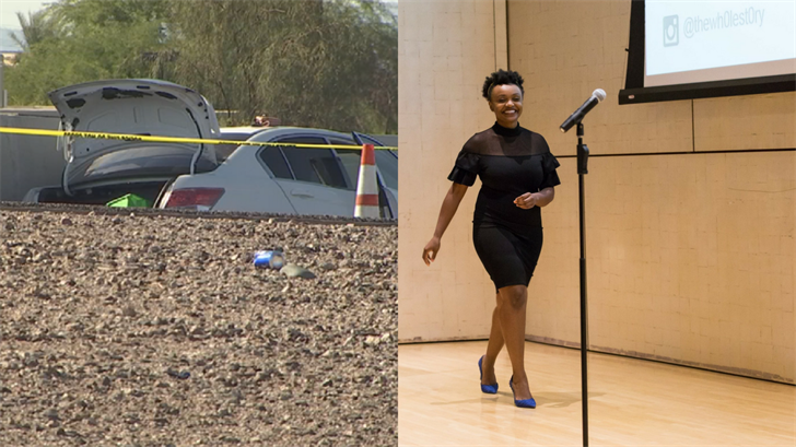 The woman found dead in the car in Peoria was identified as 29-year-old Stella W. Kiarie, per DPS. (Source: 3TV/CBS 5/Gary Pratt)