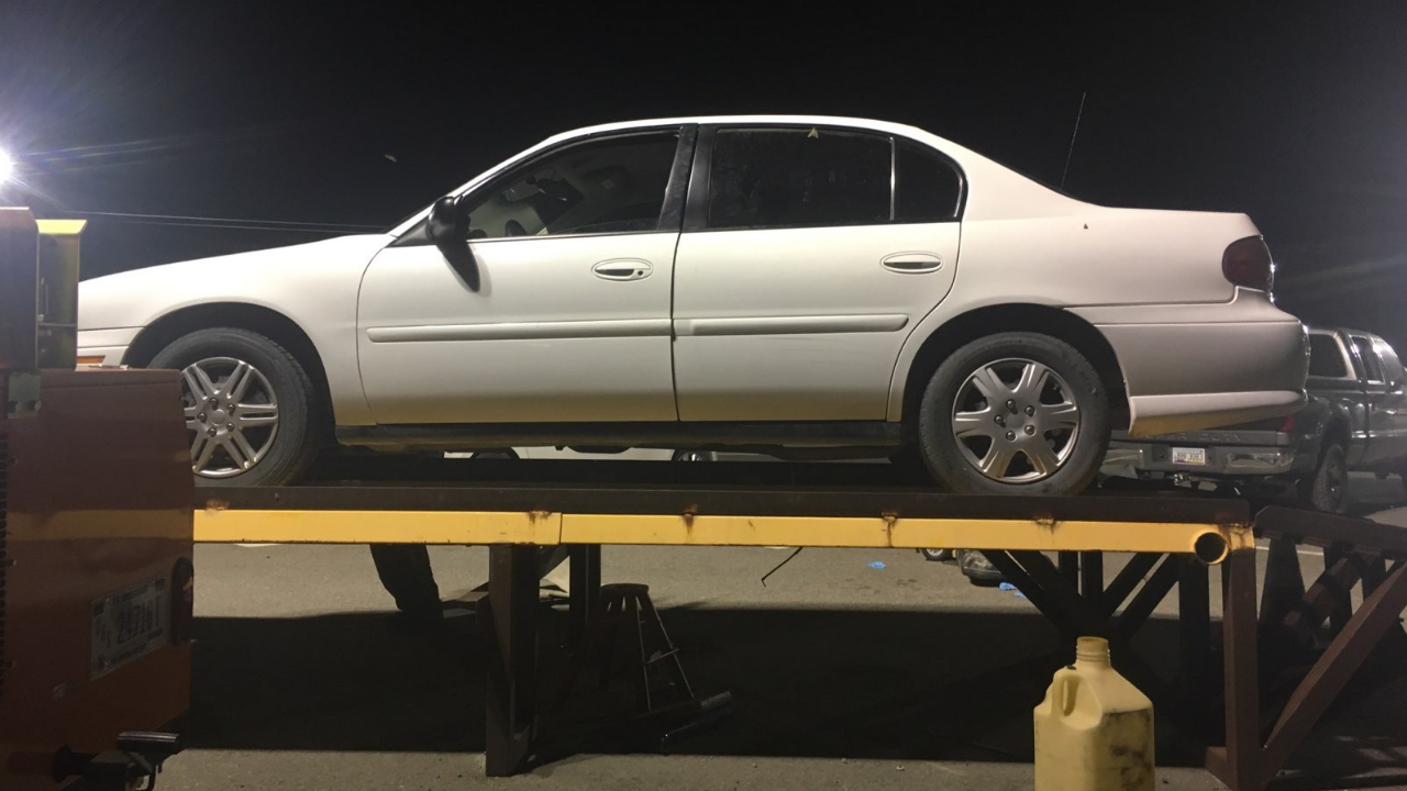 A search of the trunk of the Chevrolet Malibu turned up 20 packages of meth. (Source: U.S. Customs and Border Protection)